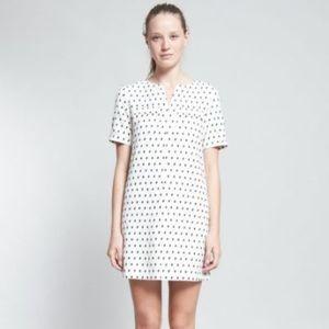NWOT A.P.C. Cream Polka Dot Dress. Size S.